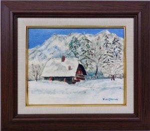 画像1: 相澤和郎 『雪山風景』 油絵 F3号