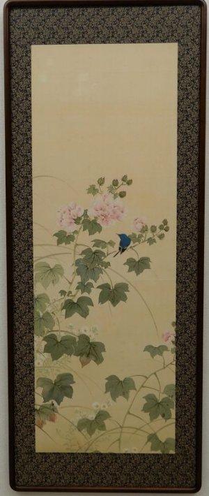 画像1: 浦田廣香 【花鳥】 日本画 縦額