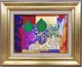 角井満夫 「実の有る風景」 F4号 日本画