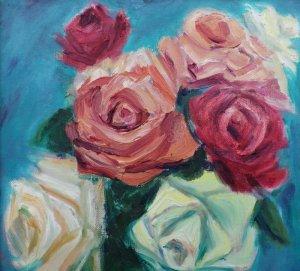 画像3: 川崎安佐子 「薔薇」 油彩 F4号