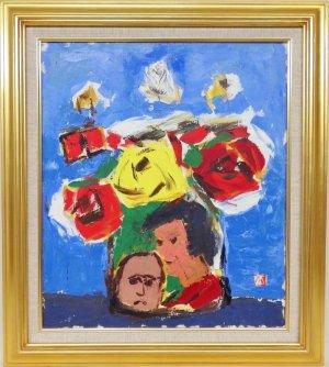 画像1: 有田徳一 『薔薇』 油彩 F10号