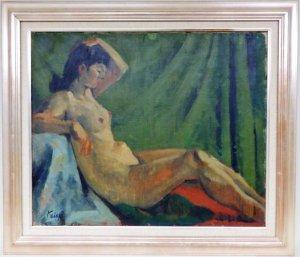画像1: 海後人五郎 「裸婦(仮題)」 油絵 F20号